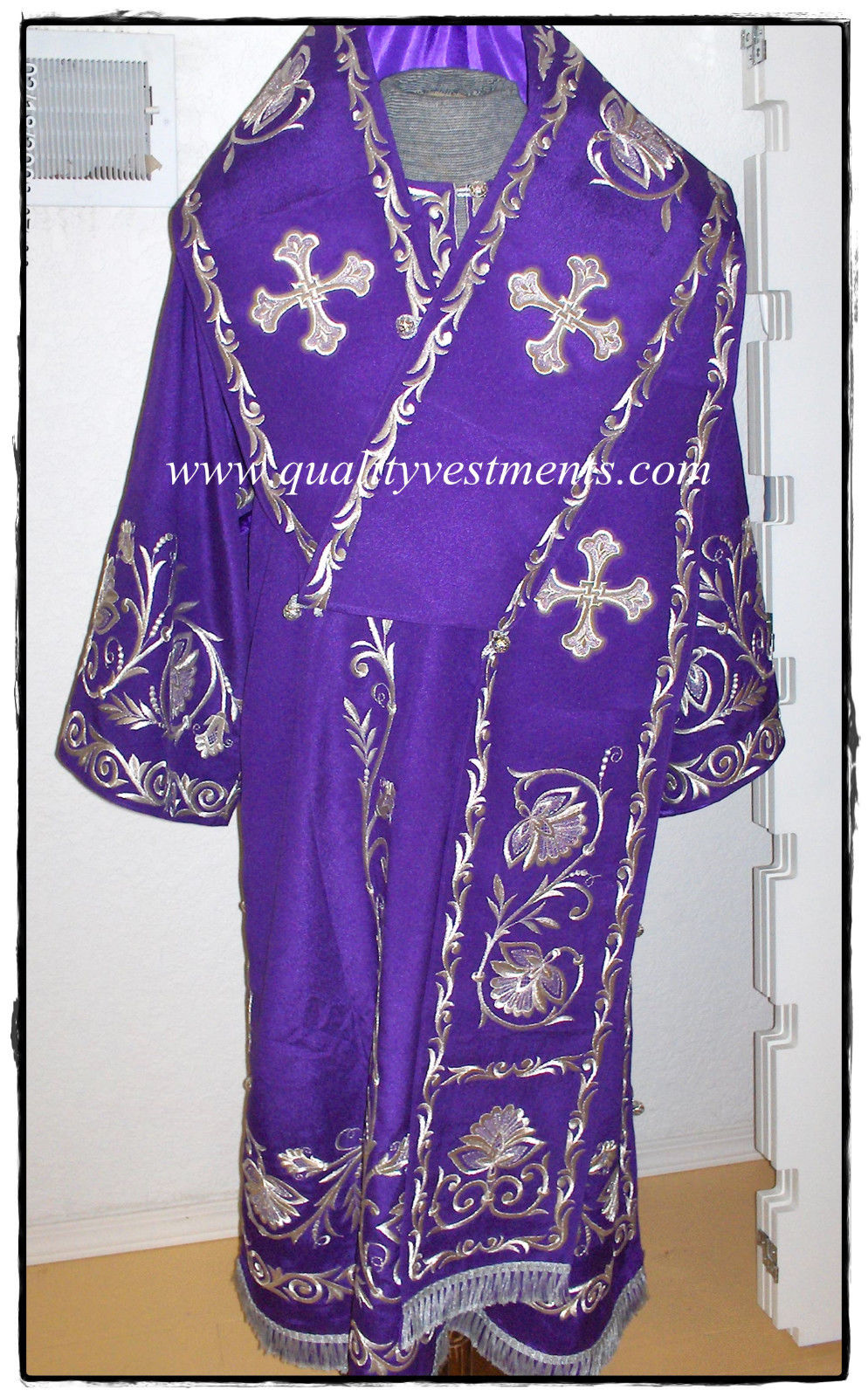 Orthodox Bishop's Embroidered Vestments Purple Gold or any color