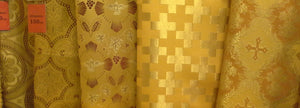 Church Liturgical Vestment  Metallic Brocade Fabric Gold 150-180cm 59-71""