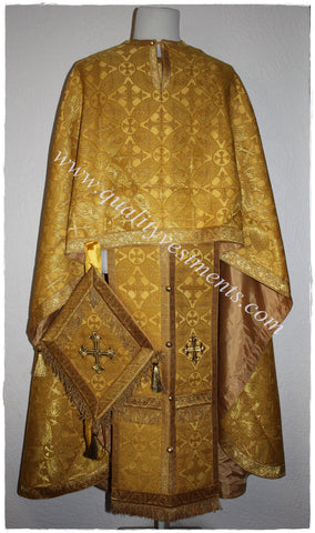 Greek Orthodox Priest Vestment Nonmetallic Brocade  Gold or any color