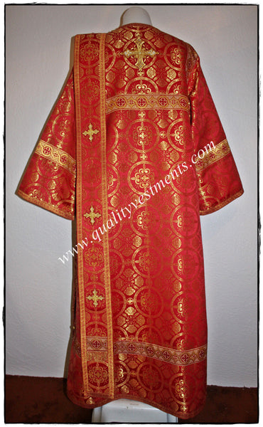Red Deacon's Russian Orthodox Vestments  Metallic Brocade