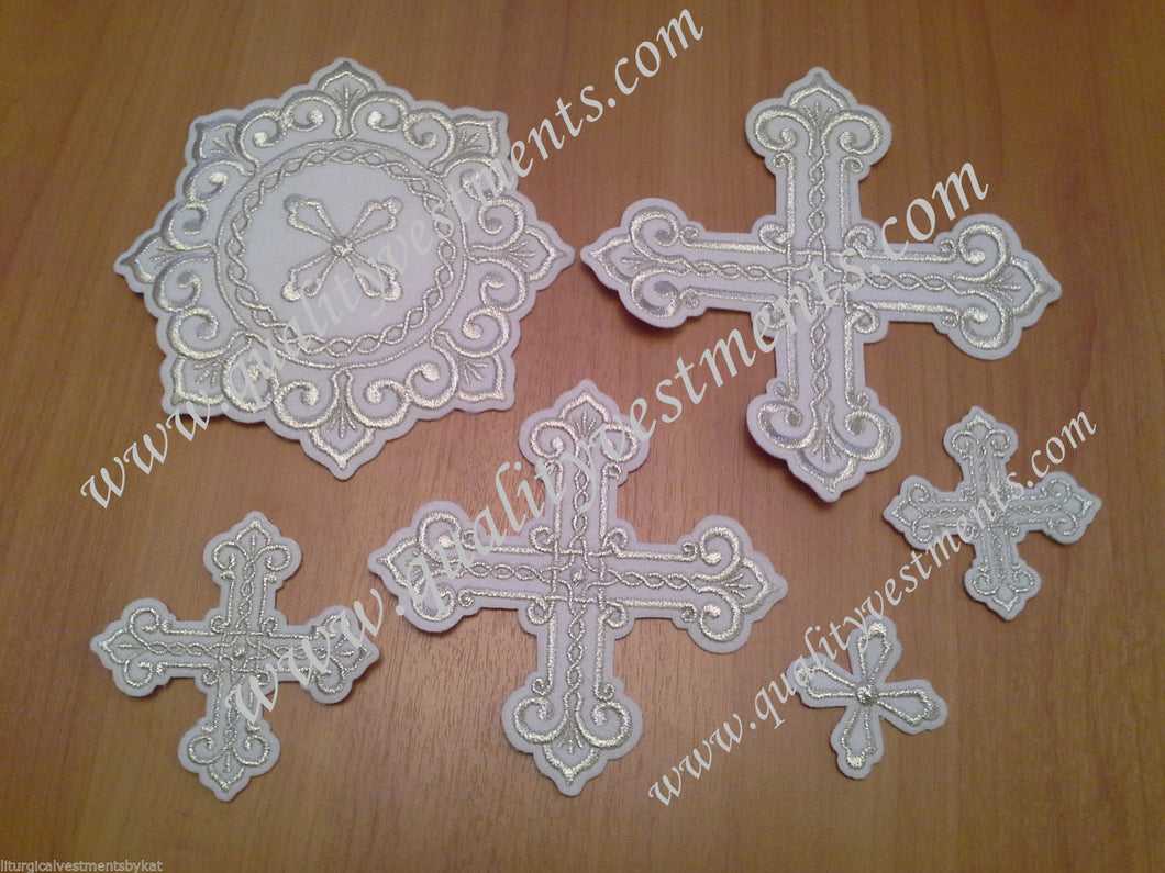 Embroidered crosses Priest set
