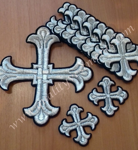 Deacon's crosses  Black with silver 10 Piece Set 6 choices