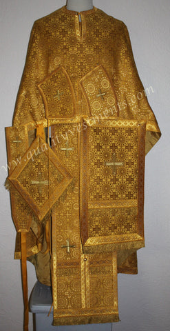 Priest Orthodox Greek style vestment Mustard Honey Gold Nonmetallic