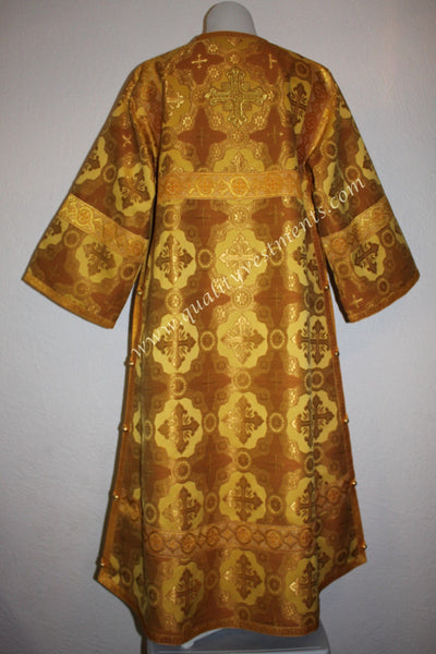 TO ORDER!!  Reader Acolyte Altar Server Robe Honey Gold/Gold Nonmetallic Brocade