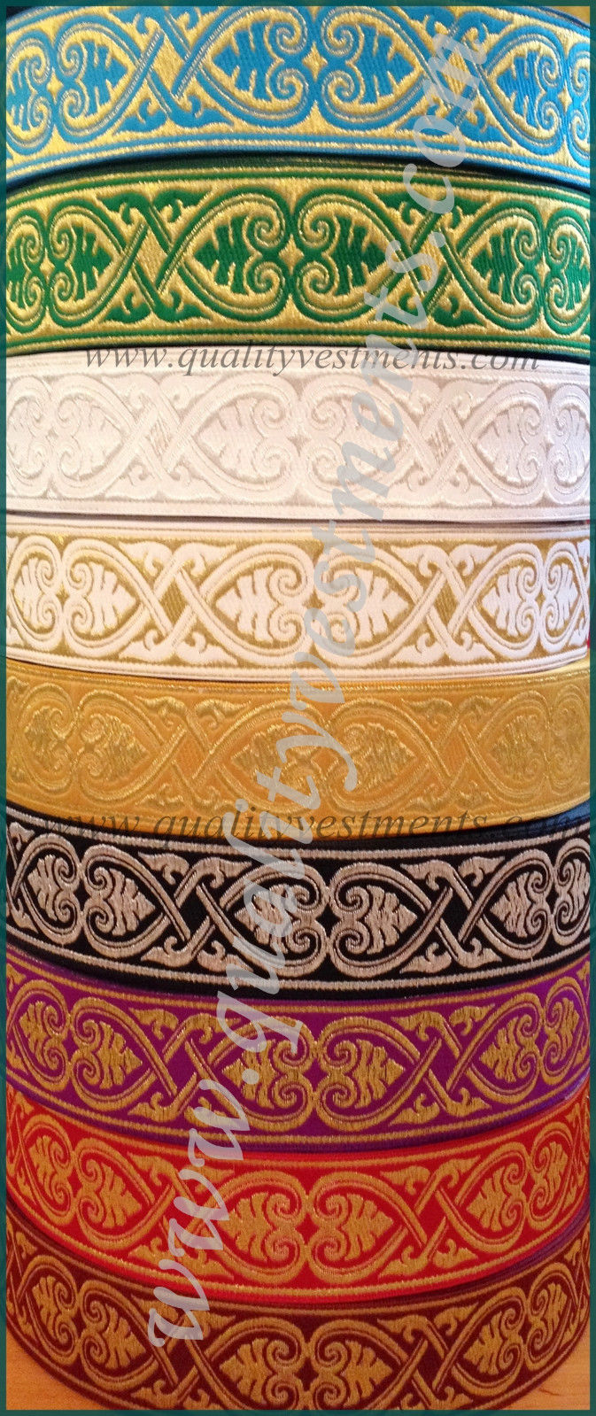 "NEW!!! Church religious  trim  galloon  ""Athos""  5/8""  1.7 cm width many colors"