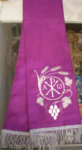 Gospel Bible Embroidered Purple Marker Bookmark