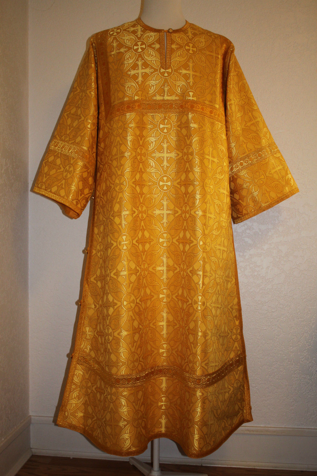 TO ORDER!! Readers Acolyte Robe  Orthodox Nonmetallic Brocade Gold, Lined