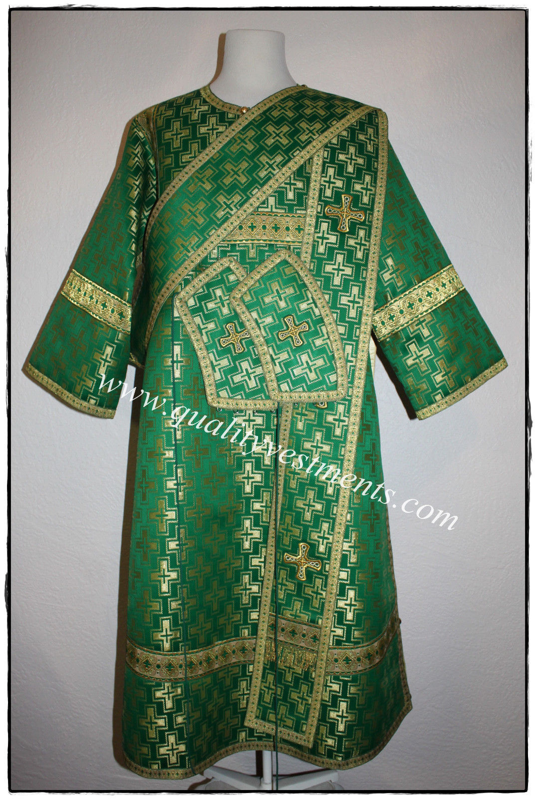 Proto Deacon Byzantine Orthodox Vestment  Nonmetallic Brocade Green or any color