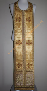 Orthodox Bishop's Vestments Antique Gold Metallic Brocade with Embroidery