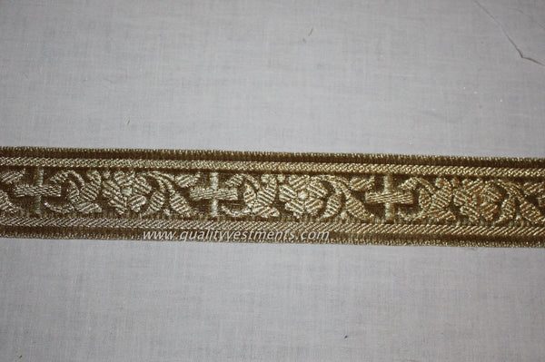 "Church liturgical  vestment galloon trim  7/8""  2.2 cm GOLD OR SILVER"