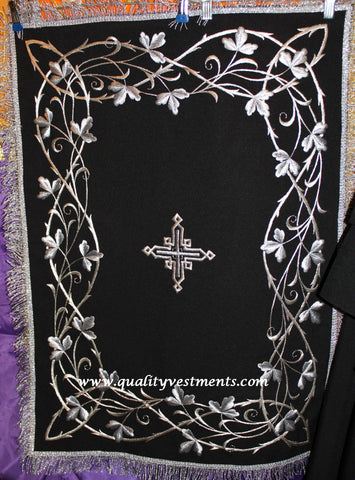 Chalice Covers Veils Orthodox Byzantine Embroidered Black Great Lent