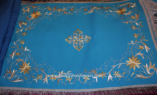 TO ORDER Chalice Covers Veils Orthodox Byzantine Embroidered Blue Red Gold etc