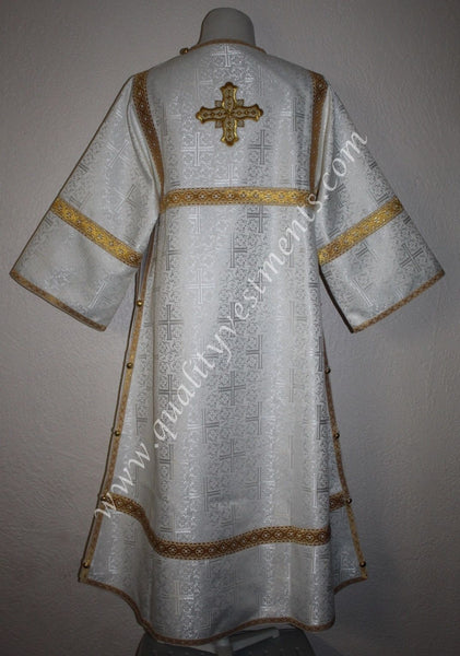 Subdeacon Ipodiacon Russian Orthodox Vestment Nonmetallic Brocade White Gold