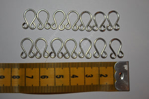 Steel Metall loops for cuffs poruchi set of 14 loops