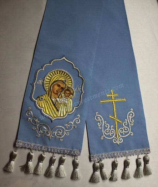 TO ORDER Gospel Bible Marker Embroidered Theotokos, Mother of Kazan Kazanskay