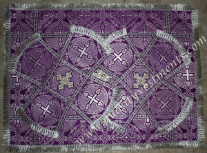 Purple Veils Chalice Covers Nonmetallic Brocade READY TO SHIP!