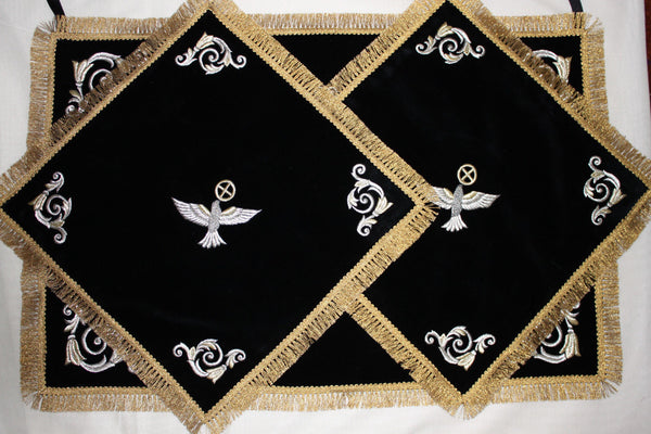Chalice Covers Veils Orthodox Embroidered Birs Chalice  Black or any color