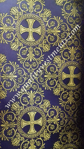 Liturgical Vestment Brocade Nonmetallic purple gold  width  59'' 150cm