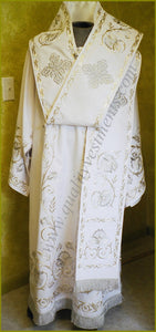 Orthodox Bishop's Vestments Embroidered LIGHTWEIGHT any color TO ORDER.