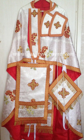 Priest Orthodox Greek style vestment Rayon Nonmetallic Floral Rose pattern LIGHT