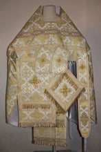 Russian Orthodox Priest Russian Style Vestment Metallic White Gold Brocade