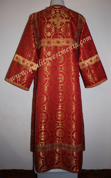 TO ORDER  Reader Acolyte Altar Server Robe Red Gold Metallic Brocade