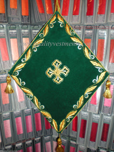 Palitsa Shield Embroidered  Palm Sunday  the Entry of Our Lord into Jerusalem