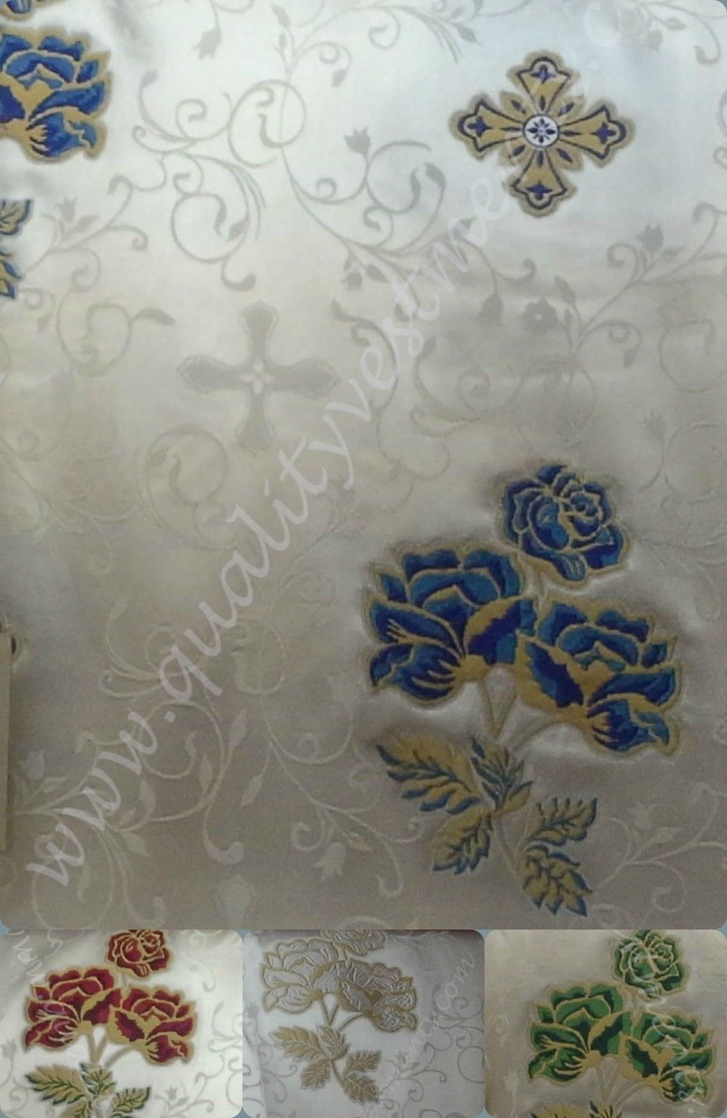 "Church Liturgical Vestments Nonmetallic Brocade ""Rose"""