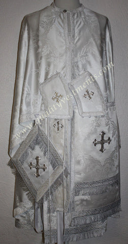 Priest Orthodox Greek style vestment White Rayon Nonmetallic LIGHTWEIGHT