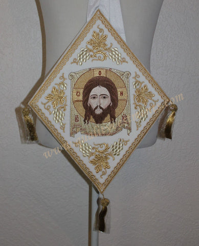 TO ORDER! Palitsa Epigonation Embroidered Icon Christ, Image-Not-Made-by-Hands