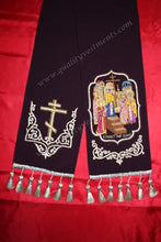 Gospel Bible Marker Bookmark  Purple  Embroidered Exaltation of the Cross