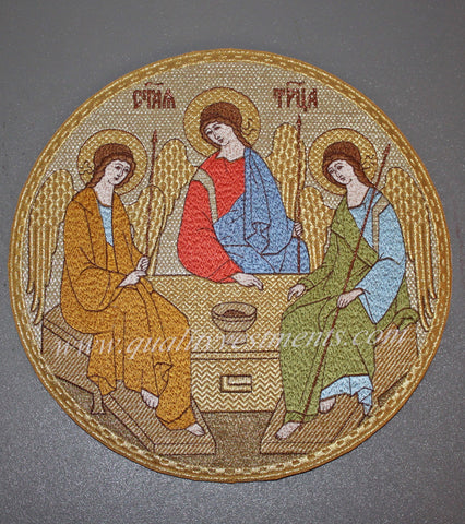"Church Liturgical Embroidered Icon of Trinity 9"" (23cm)"