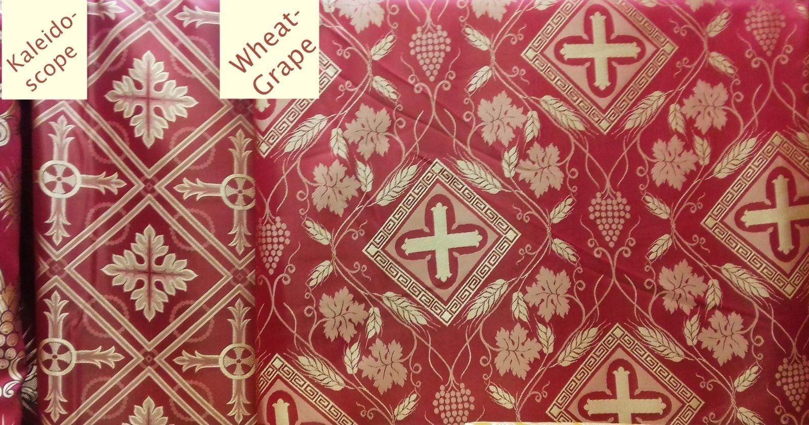 "Liturgical Orthodox Vestment Greek Rayon 2 m (79"") Wide, 2 Patterns Available"