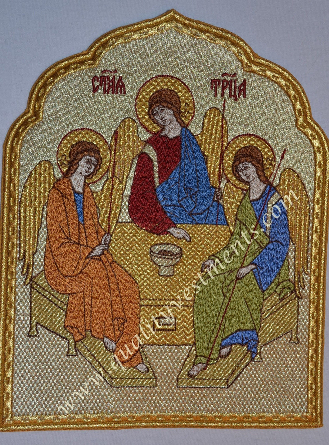 Church Liturgical Embroidered Icon Trinity  8