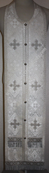 "White Communion Set Epitrachelion with Cuffs 45 3/4"" (116 cm) SHIPS FROM US"