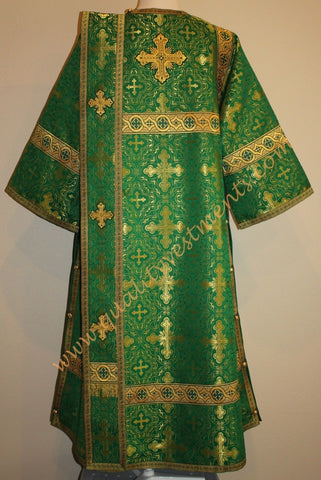 TO ORDER! Deacon Vestment Russian Style Nonmetallic Brocade Green Gold