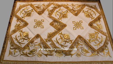 Chalice Covers Veils Orthodox Floral Embroidered White  Red Gold Green etc