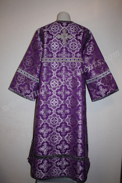 TO ORDER!!  Reader Acolyte Altar Server Robe Purple Silver Nonmetallic Brocade
