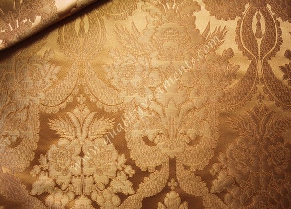 Church Liturgical Ecclesiastical Vestment Metallic Brocade Antique Gold Floral