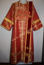 Deacon Russian Orthodox Vestment  Nonmetallic Brocade RED Gold or any color