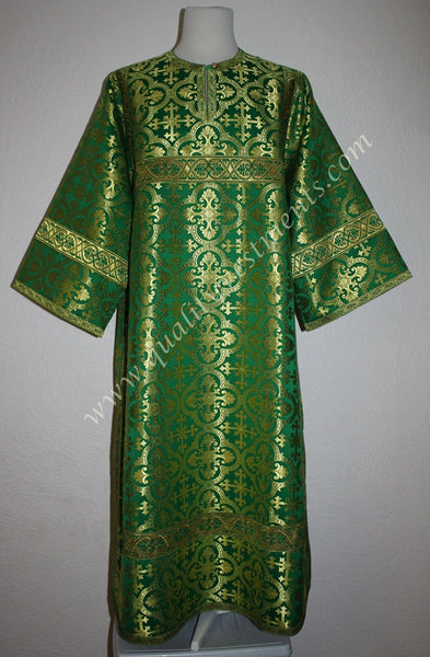 TO ORDER!!  Reader Acolyte Altar Server Robe Green Gold Nonmetallic Brocade