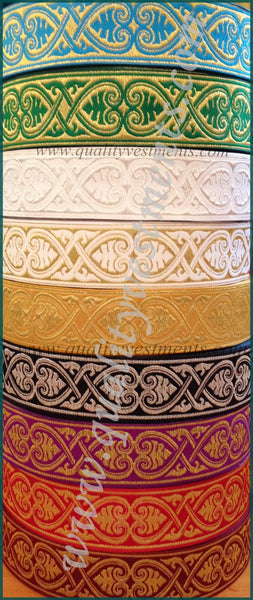 "NEW!!! Church religious  trim  galloon  ""Athos""  1 5/8""  4 cm width many colors"