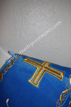 Double Protodeacon's Orar Orarion with cuffs Embroidered Blue or any color