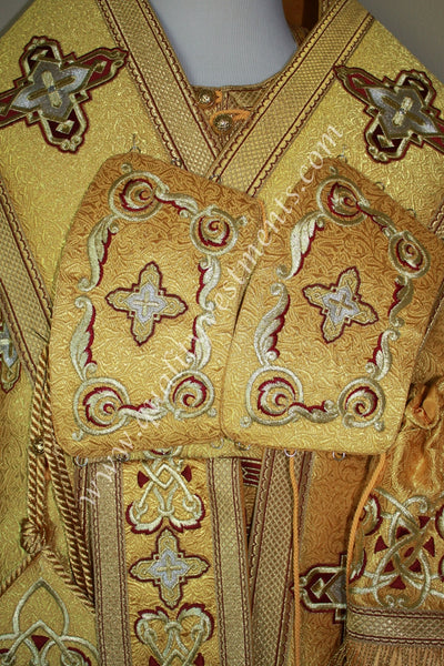 Gold Bishop's Vestments Embroidered Burgundy embroidery Seraphim TO ORDER