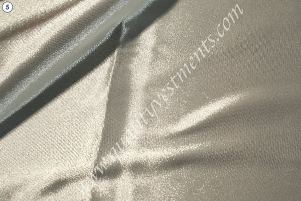 "Silver Glaze Glazet Metallic Brocade Ecclesiastical sewing Clergy Vestment 59"" w"