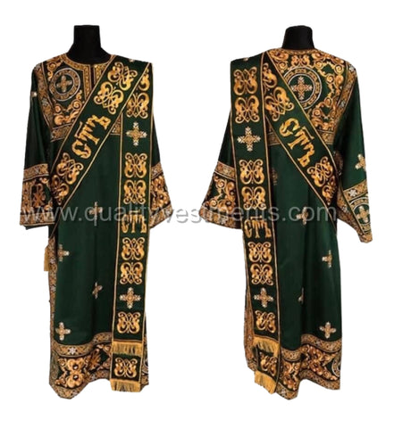 Green vestments for ProtoDeacon Embroidered LIGHTWEIGHT any other color TO ORDER