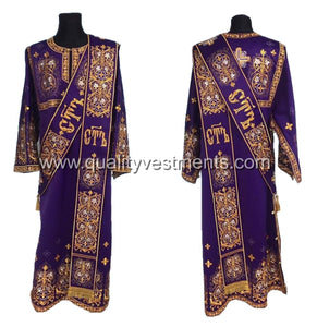 Purple ProtoDeacon's Embroidered vestment LIGHTWEIGHT TO ORDER