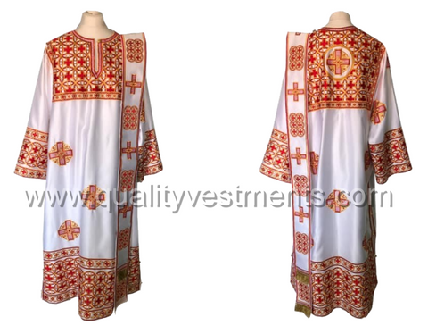 White vestments for Deacon Embroidered LIGHTWEIGHT or any other color TO ORDER