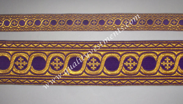 Border for vestments Liturgical galloon trim Circles pattern 4 widths