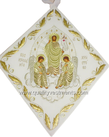 Resurrection Icon Palitsa Epigonation Shield Embroidered.